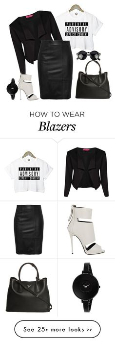 """outfit 2318"" by natalyag on Polyvore featuring Boohoo, Prada, Giuseppe Zanotti and Movado"