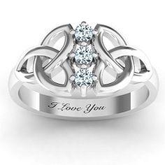 Sláine Celtic Knot Promise Ring #jewlr
