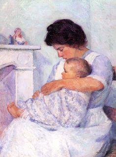 Bernhard Gutmann, Mother and Child (White Mantel) 1912