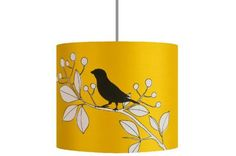 Housesparrow lampshade, from £82 (Dh480) to £168 (Dh987), www.missprint.co.uk.