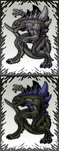 Trendmasters 1998 Godzillas by AlmightyRayzilla on DeviantArt