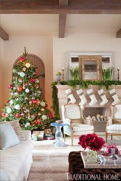 Decorating: Holiday Mantels | Traditional Home