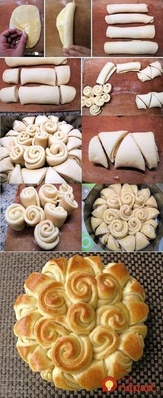 Happy Holiday Bread- use homemade crescent dough, would be good to put some butter and brown sugar in them! Bread Recipes, Cooking Recipes, Holiday Bread, Holiday Baking, How To Make Bread, Sweet Bread, Pain, Love Food, Holiday Recipes