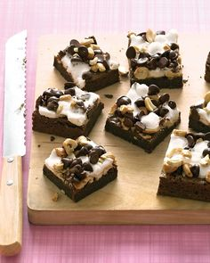 Rocky Road Brownies Recipe. These chocolaty treats are topped with a chewy layer of marshmallows, nuts, and even more chocolate.