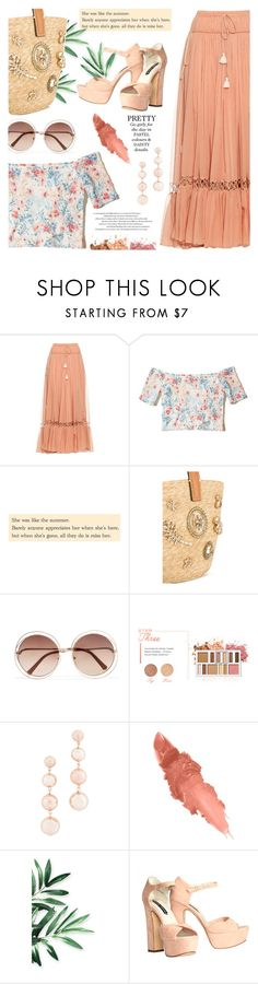 """Pretty pastels"" by jan31 ❤ liked on Polyvore featuring Chloé, Hollister Co., Ermanno Scervino, BHCosmetics, Rebecca Minkoff, Maybelline and Alice + Olivia"