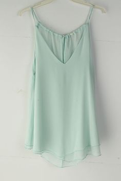 Pale Mint Chiffon Top   Emma Stine Limited (with black bandeau underneath) Like, Comment, Repin !!