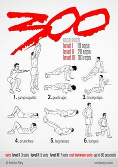 1 - 300 Workout this will be ambitious! 1 - 300 Workout this will be ambitious! Fitness Workouts, Fitness Hacks, Weight Training Workouts, Gym Workout Tips, Ab Workout At Home, Funny Fitness, Workout Fitness, Fitness Memes, Full Body Calisthenics Workout