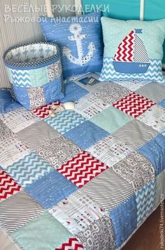 Patchwork Baby Blanket Diy Scrap 41 New Ideas Baby Boy Quilt Patterns, Baby Boy Quilts, Rag Quilt, Patch Quilt, Quilting Projects, Quilting Designs, Patchwork Baby, Sewing Projects For Beginners, Diy Pillows