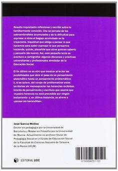 Cartografías pedagógicas para educadores sociales / José García Molina