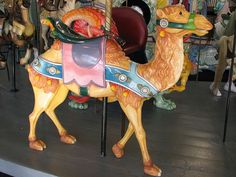 Carousel camel ~ Crescent Park Looff Carousel by FranMoff, via Flickr