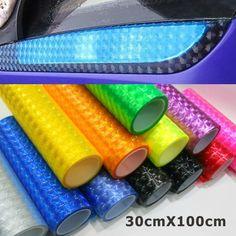 30 cm * 1 m 12 màu sắc có kiểu dáng 3D Cát của Eye Xe Sticker Khói Sương Mù Nhẹ Đèn Pha Đèn Hậu Tint Vinyl Film Miễn Phí Vận Chuyển