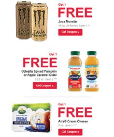 FREE Arla Cream Cheese, Java Monster and Odwalla Cider at Jewel - https://freebiefresh.com/free-arla-cream-cheese-java-monster-and-odwalla-cider-at-jewel/