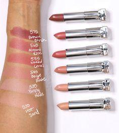 Maybelline Color Sensational Inti-Matte Nudes Lippenstift - Make-up und Beauty . Lipstick Swatches, Nude Lipstick, Makeup Swatches, Lipstick Shades, Makeup Lipstick, Best Drugstore Lipstick, Maroon Lipstick, Lipstick Dupes, Liquid Lipstick