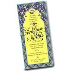 Invitation . Arabian Nights Party Collection by LoraleeLewis, $39.00