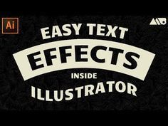 How to Easily Create Text Effects in Adobe Illustrator Tutorial Photoshop Design, Cool Photoshop, Photoshop Tutorial, Photoshop Actions, Photoshop Effects, Photoshop Brushes, Adobe Illustrator Tutorials, Photoshop Illustrator, Ai Illustrator