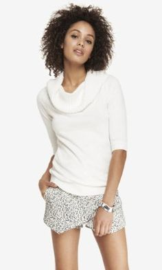 CONVERTIBLE COWL TUNIC SWEATER from EXPRESS (in the red or navy colors)