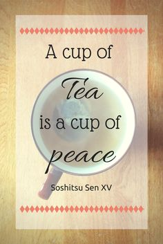 Feeling in the mood for a cup of peace.