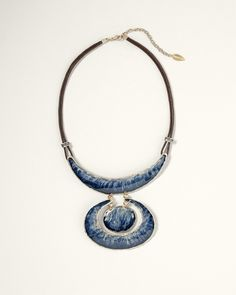Enamel Medallion Necklace