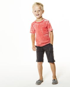 Joah Love — OWEN - Distressed Tee - Multi Colors - #boysclothes #style #kids #joahlove #spring #summer