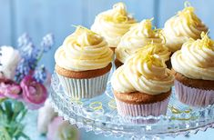 These elegant & sophisticated Earl Grey cupcakes with lemon icing are sure to be loved by all. Discover many more Mother's Day recipes at Tesco Real Food.