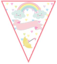 paraguita-candy bar lluvia de amor kit imprimible Rainbow Birthday Party, Girl Birthday, Birthday Parties, Baby Shower Decorations, Birthdays, Clouds, Drawings, Rainbows, Cloud