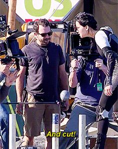 Behind the scenes Is this the scene where she enters the arena (it looks like she is about to dive)?