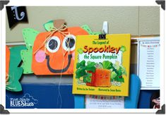 First Grade Blue Skies: Spookley the Square Pumpkin Craft {and Spiders Close Read}