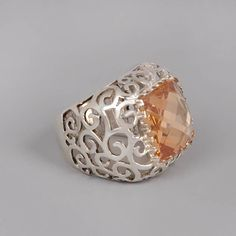 Hey, I found this really awesome Etsy listing at https://www.etsy.com/listing/70246304/silver-peach-ring-handmade-sterling