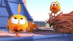 Злые птички. Их шаловливые птенцы. Смешной мульт про птичек