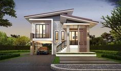 Two story house plans are ideal for a growing family. Since it has all the rooms and space that the family needs, each member can have a room to relax, to enjoy, and have fun. The two story house plan that Two Story House Design, 2 Storey House Design, Simple House Design, House Front Design, Minimalist House Design, Modern House Design, House Plan Two Story, Tropical House Design, Two Story Homes