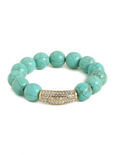 our marbled turq bar bracelet is perfect for stacking!