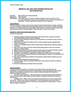 medical billing manager job description professional resume for medical coder free resume builder online . Medical Coder, Medical Billing And Coding, Cover Letter Example, Cover Letter For Resume, Cover Letters, Sales Resume Examples, Coding Jobs, Free Resume Builder