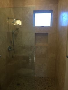 cafe light 24x24 travertine tile shower surround natural stone shower