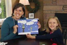 Winter Wonderland Kids Craft using magazines @MakeandTakes.com.com