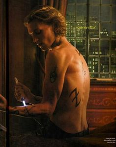 Shirtless Jamie Campbell Bower from The Mortal Instruments: City of Bones