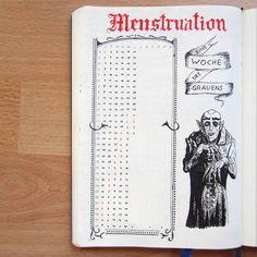 "127 tykkäystä, 11 kommenttia - Edith (@elvish_ink) Instagramissa: ""My period tracker. I wanted to make it a little bit spooky, so I added Nosferatu.  #bujoinspire…"""