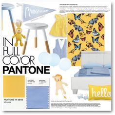 Pantone Color Swatch by beebeely-look on Polyvore featuring interior, interiors, interior design, home, home decor, interior decorating, a&R, Voutsa, Villa Home Collection and Mud Pie
