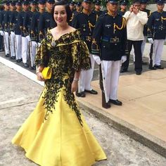 mother of the bride filipiniana - cut and peg Modern Filipiniana Gown, Filipino Fashion, Reception Gown, Dresser, Formal Wear Women, Mother Of The Bride Gown, Couture Dresses, Formal Gowns, Traditional Dresses