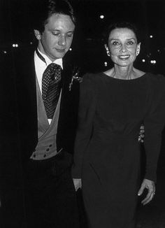Audrey & Sean at his wedding to Marina Spa... in Los Angeles, 1985