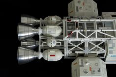 """Engines and aft spine view from 44"""" Eagle model from Space 1999. This is one of 25 meticulously crafted resin kits from Comet Miniatures in UK. It was released in November 1999. This example built by Jon Wilson."""