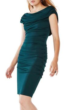 BCBGMAXAZRIA 'Kylia' Ruched Jersey Sheath Dress