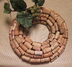 cork wreath - Google Search