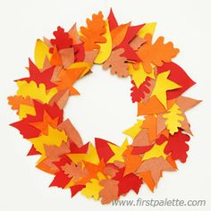 Autumn Leaf DIY Fall Wreath | Creating fall crafts with the kids is one of the best ways to greet the season of cool weather and warm cider.
