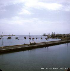 Massawa Harbor seen from TTU. (1970)