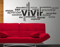 #Vinilo decorativo #texto #vivir