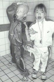 "This image depicts the ""gabber kids"" phenomenon that resulted from the subculture developing into mainstream culture. Because of this, the gabber style became subsequently more common in multiple generations of Dutch children."