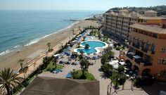 Beatriz Palace hotel on the beachfront in Fuengirola, Spain.