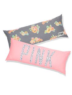 Victoria's Secret: Body pillow  Price: $49.95 Link: https://www.victoriassecret.com/pink/all-dorm/body-pillow-pink?ProductID=212089&CatalogueType=OLS