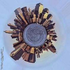 NYC South Manhattan Little Planet - West Side Panorama New York City, via Flickr.