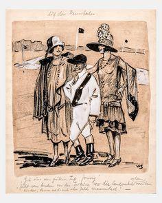 """""""Auf der Rennbahn"""", Grafik,  Steinert, Willi, Berlin, um 1925"""